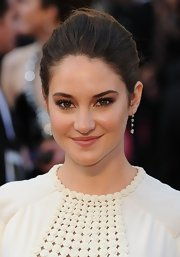 Shailene Woodley wore her hair pulled back and styled in a classic bun at the 84th Annual Academy Awards