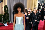 Musician Esperanza Spalding arrives at the 84th Annual Academy Awards held at the Hollywood & Highland Center on February 26, 2012 in Hollywood, California.