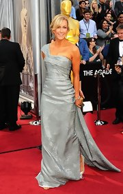 Lara Spencer shined in a one-shoulder gown that sparkled beautifully against her glowing complexion.