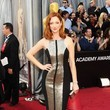Judy Greer in Monique Lhuillier