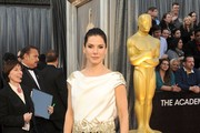 Actress Sandra Bullock arrives at the 84th Annual Academy Awards held at the Hollywood & Highland Center on February 26, 2012 in Hollywood, California.