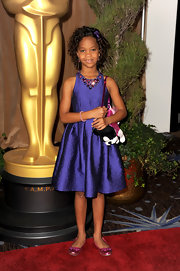 Quvenshane was a total doll at the Academy Awards Nominations Luncheon in her purple dress with a beaded neckline.