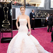 Jennifer Lawrence in Christian Dior at the Oscars