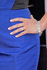 Reese tempered her royal blue gown with a milky white manicure.