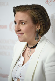 Lena Dunham sported a cute bob at the Blossom Ball.