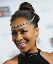 La La Anthony looked funky with her top knot, complete with a bejeweled headband, at the Keep a Child Alive Black Ball.