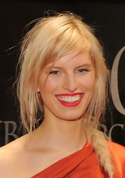 Karolina Kurkova paired her glamorous look with a tousled side braid at the New Yorkers for Children Spring Dinner Dance.