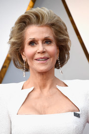 Jane Fonda sported a teased bob at the 2018 Oscars.
