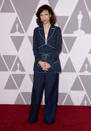 Sally Hawkins's dotted blue Rosie Assoulin ensemble at the 2018 Academy Awards nominees luncheon was a playful and relaxed way to suit up!