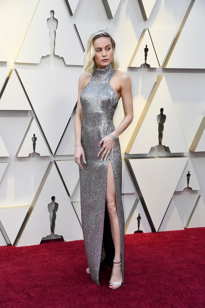 More Pics of Brie Larson Halter Dress (3 of 34) - Dresses & Skirts Lookbook - StyleBistro [red carpet,fashion model,clothing,carpet,dress,shoulder,fashion,flooring,haute couture,cocktail dress,arrivals,brie larson,academy awards,hollywood,highland,california,annual academy awards]