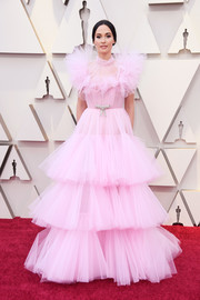 Kacey Musgraves went the super-sweet route in this tiered pink tulle confection by Giambattista Valli Couture at the 2019 Oscars.