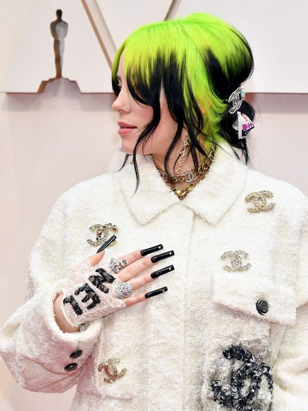 Billie Eilish caught eyes with her super-long black nails.