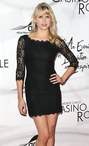 Lucy Punch looked alluring in a lace LBD at the Innovation and Inspiration Gala.