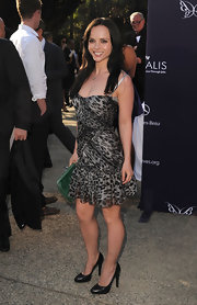 Christina opted for classic leather pumps, but this exotic dress called for a sexier standout shoe.