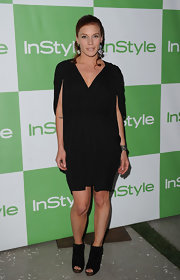 Katee showed off her simple black cocktail dress while hitting the InStyle event.