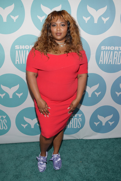 More Pics of Lizzo Off-the-Shoulder Dress (1 of 2) - Dresses & Skirts Lookbook - StyleBistro [lizzo,new york city,playstation theater,9th annual shorty awards,carpet arrivals]