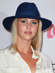 Claire Holt channeled her inner Johnny Depp and sported a cool electric blue walker hat.