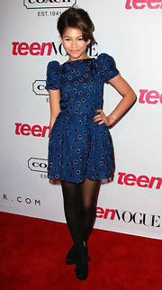 How cute is this pouf-slee'ved dress Zendaya wore to the Teen Vogue' party?
