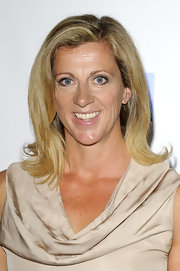 Sally Gunnell rocked a retro vibe with her flip hairstyle.