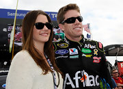 Julie Gonzalo looked cool in a pair of wayfarers when she went to the AAA Texas 500.
