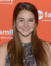 Shailene Woodley wore her ultra-long hair sleek and straight for the ABC Family West Coast Upfronts party.