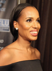 Kerry Washington kept it simple with this loose, low ponytail at the 2015 Bill of Rights dinner.