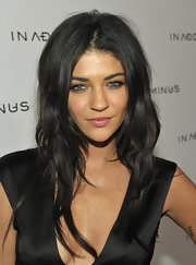 Jessica Szohr showed off her tousled locks while attending a store launch in LA.
