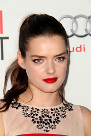 Roxane Mesquida wore a hot, fire-engine red lipstick at a screening of 'The Artist.'