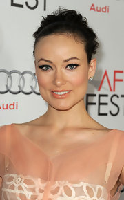 Olivia Wilde played up her almond-shaped eyes with lots of liner and a pair of feathery false lashes at a screening of 'Butter.'