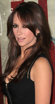 Jennifer Love Hewitt let her hair down at the 'J. Edgar' premiere.