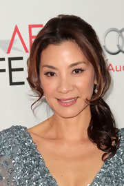Michelle Yeoh wore her hair in a pretty side ponytail with soft curls at AFI Fest 2011.