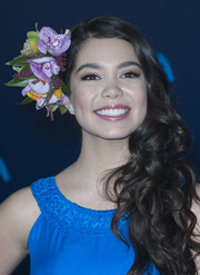 Auli'i Cravalho got all prettied up with this curly side sweep for the premiere of 'Moana.'