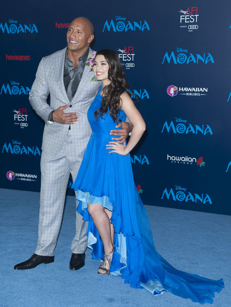 More Pics of Auli'i Cravalho Side Sweep (1 of 16) - Auli'i Cravalho Lookbook - StyleBistro [event,premiere,dress,carpet,flooring,red carpet,dance,formal wear,performance,arrivals,disney premiere ``moana,audi - premiere,actors,aulii cravalho,dwayne johnson,lawrence,disney,afp,afi fest 2016]