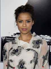 Gugu Mbatha-Raw attended the AFI Fest premiere of 'Miss Sloane' wearing her hair in pinned-up curls.