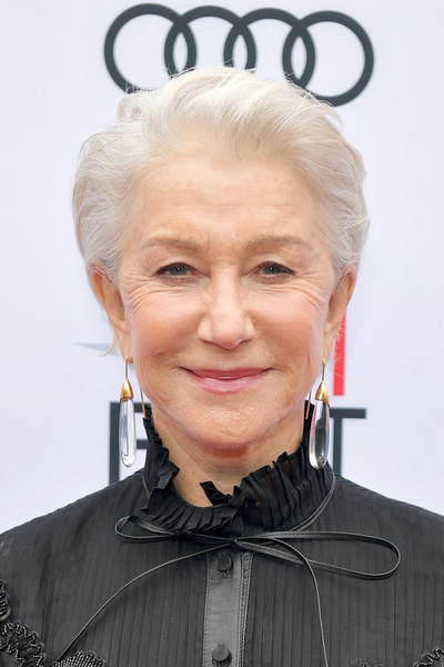 Helen Mirren looked cool with her mildly messy short 'do at the AFI FEST screening of 'The Leisure Seeker.'