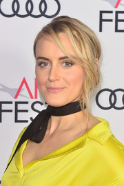 Taylor Schilling sported a slightly messy, loose bun during AFI FEST 2018.