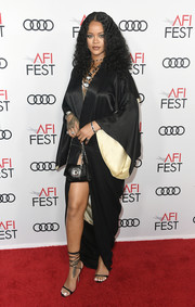 Rihanna looked sultry in a vintage black kimono by John Galliano at the 2019 AFI FEST premiere of 'Queen and Slim.'