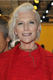 Maye Musk opted for an edgy 'short 'do when she attended the Akris fashion show.