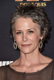 Melissa McBride rocked a messy-chic 'do at the premiere of 'The Walking Dead' season 5.