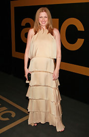 Mireille wore this boho style dress with a tiered skirt while attended AMC's Emmy Awards After Party.