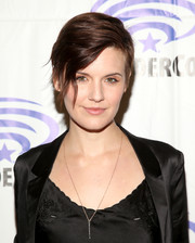 Maggie Grace looked cool with her emo bangs at WonderCon.