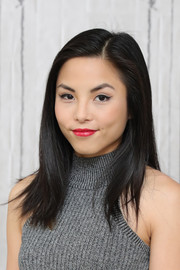 Anna Akana showed off a neat side-parted hairstyle at the AOL Build Speaker Series.