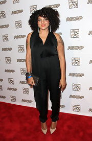 Marsha Ambrosius looked low-key yet chic in a black jumpsuit at the ASCAP Rhythm and Soul Music Awards.