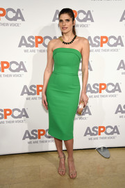 Lake Bell attended the Bergh Ball wearing a green Christian Siriano strapless dress that fit her figure flawlessly.
