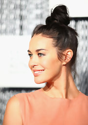 Megan Gale looked cool at the ASTRA Awards finalists announcement with this top knot.