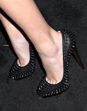 Khloe showed off her awesome foot candy while hitting the AXE concert series.