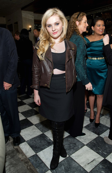 Abigail Breslin Leather Jacket
