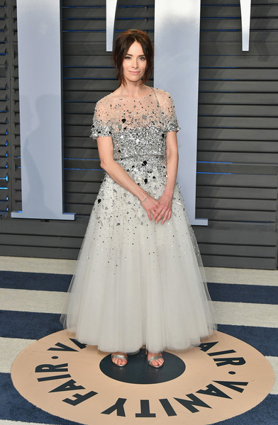 Abigail Spencer Beaded Dress [oscar party,vanity fair,dress,clothing,shoulder,white,gown,fashion model,lady,fashion,formal wear,haute couture,beverly hills,california,wallis annenberg center for the performing arts,radhika jones - arrivals,radhika jones,abigail spencer]