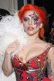 Lady Gaga's theatrical makeup at the Grammys after-party was a perfect match to her dress!