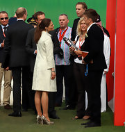 Princess Victoria looked posh at the HSBC Golf Championship in snakeskin pumps.